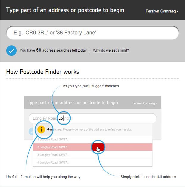 postcode finder
